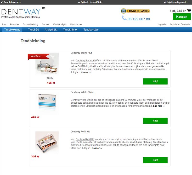 Dentway tandblekningsprodukter
