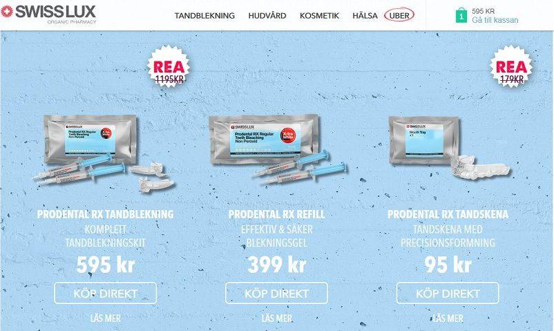 Swiss Lux tandblekningsprodukter