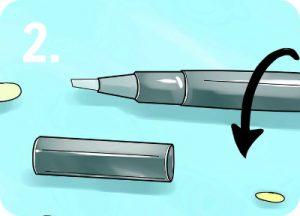 Tandblekningspenna steg 2