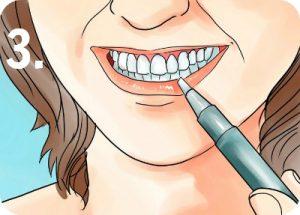 Tandblekningspenna steg 3