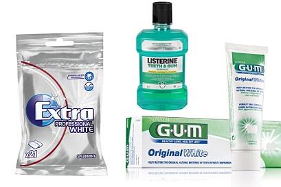 Tandkräm, tuggummi & munskölj